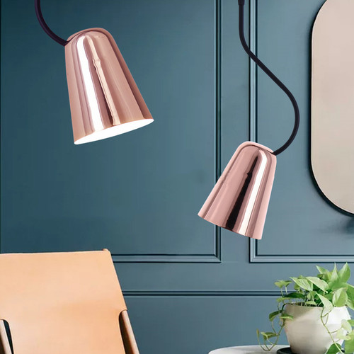 Pendant Light Polished aluminium shade 45 degrees Adjusted Modern Minimalism Design from Singapore best online lighting shop horizon lights