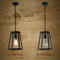 Loft Hanging Light Chain Latern Glass Shade Retro Style from Singapore best online lighting shop horizon lights