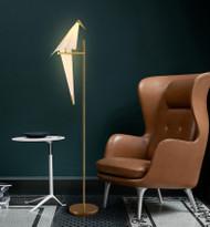 Modern Style LED Floor Lamp Acrylic Bird Shape Light Creative Living Room Decor from Singapore best online lighting shop horizon lights