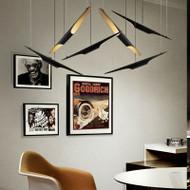 Nordic Style LED Pendant Light Aluminum Tube Shade Living Room Decor from Singapore best online lighting shop horizon lights