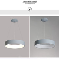 Here is the detail picture. Modern Style LED Pendant Light Circular Ring Metal Shade Minimalism Home Decor from Singapore best online lighting shop horizon lights