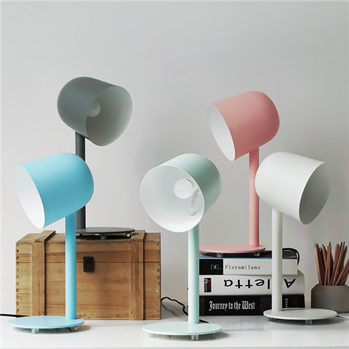 2PCS Table Lamp Philips LED E27 Colourful Shade Nordic Style from Singapore best online lighting shop horizon lights