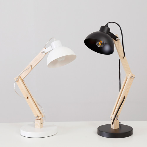 This is the scene picture. Nordic Style LED Table lamp Flexible Long Wood Arm Aluminum Shade Lamp from Singapore best online lighting shop horizon lights