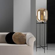 Modern Style LED Table Lamp Floor Lamp Glass Shade Metal Frame Lamp from Singapore best online lighting shop horizon lights