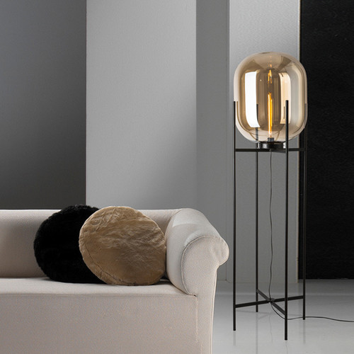 This is the scene picture. Modern Style LED Table Lamp Floor Lamp Glass Shade Metal Frame Lamp from Singapore best online lighting shop horizon lights