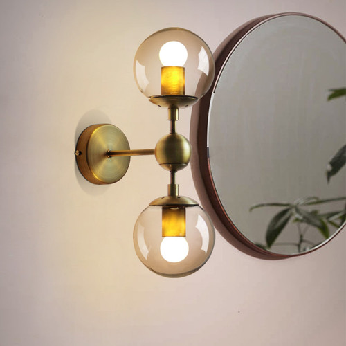 2PCS Molecule LOFT Wall Lights Glass Ball Shade Modern Style from Singapore best online lighting shop horizon lights