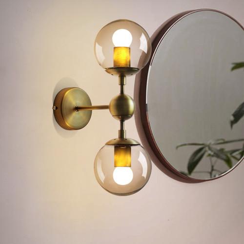 2PCS Molecule LOFT Wall Lights Glass Ball Shade Modern Style from Singapore best online lighting shop horizon lights