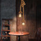 2PCS Retro Pendant Light E27 Edison Bulb Hemp Rope Countryside Style from Singapore best online lighting shop horizon lights