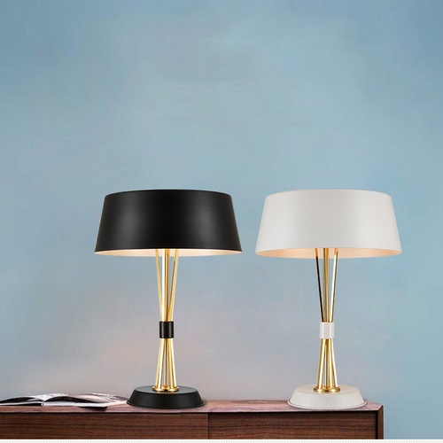 Modern Style LED Table Lamp Aluminum Shade Metal Light Simple Bedside Light from Singapore best online lighting shop horizon lights