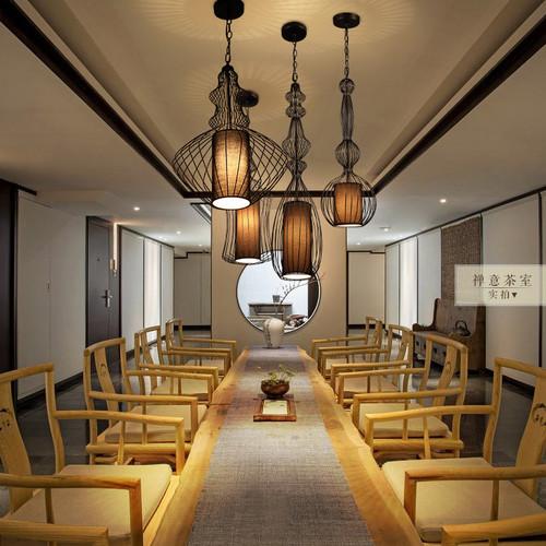 New Chinese Style LED Pendant Light Vintage Iron Bird Cage Shade Light Decor Dining Room from Singapore best online lighting shop horizon lights