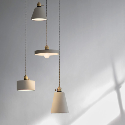 Modern Style LED Hanging Light Industrial Concrete Shade Light Dining Room Decor from Singapore best online lighting shop horizon lights