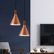 Modern Style LED Pendant Light Metal Cone Shade Minimalism Illuminations from Singapore best online lighting shop horizon lights