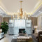 Modern LED Chandelier Acrylic Shade Metal support from Horizon Lights Singapore