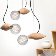 LED Bee Pendant Light Wood Creative Hanging Lamp Modern Style from Singapore best online lighting shop horizon lights