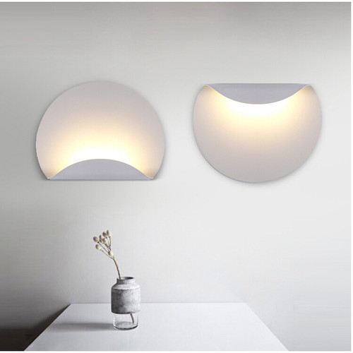 Simple Modern Style LED Wall Light Semicircle Shape Wall Mounted Acrylic Bedroom Corridor from Singapore best online lighting shop horizon lights