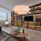 Panorama: modern style LED pendant light, in the living room, white.