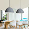 Nordic style LED pendant light in dining room, color is gray