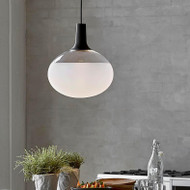 LED Suspension Light Frosted Glass Shade Modified Nordlux Modern Style from Singapore best online lighting shop horizon lights