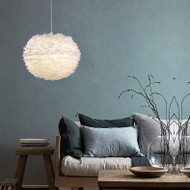 LED Hanging Light Philips E27 Bulb Feather Shade Modern Style from Singapore best online lighting shop horizon lights