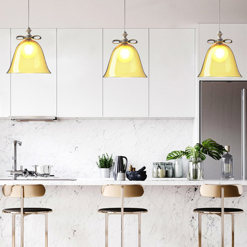 Simple Glass Bell Shape Presents Package LED Pendant Light Nordic Dining Room Bedroom