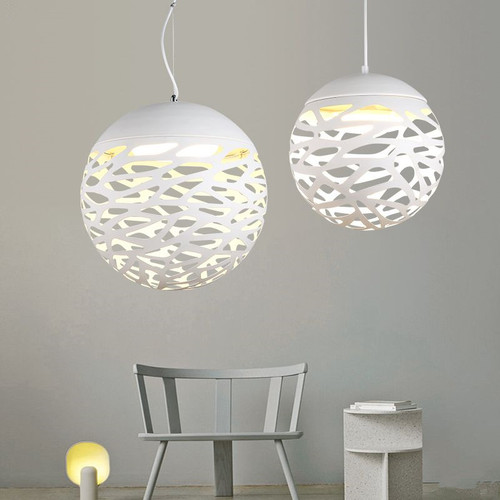 Modern Style LED Pendant Light Metal Ball Painting Shade Dining Room Hotel from Singapore best online lighting shop horizon lights