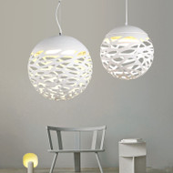 LED Pendant Lamp Ball Painting Metal Shade Modern Style