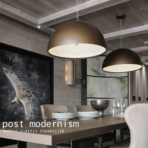 Modern Style LED Hanging Light Resin Anaglyph Lampshade Simple Dining Room Decor from Singapore best online lighting shop horizon lights