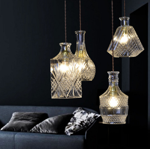 LED Glass Pendant Light Gorgeous Retro Bottle Shape Retro Style from Singapore best online lighting shop horizon lights