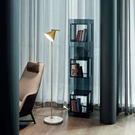 Modern Style Floor Lamp Metal Shade Marble Base Captain Flint from Singapore best online lighting shop horizon lights