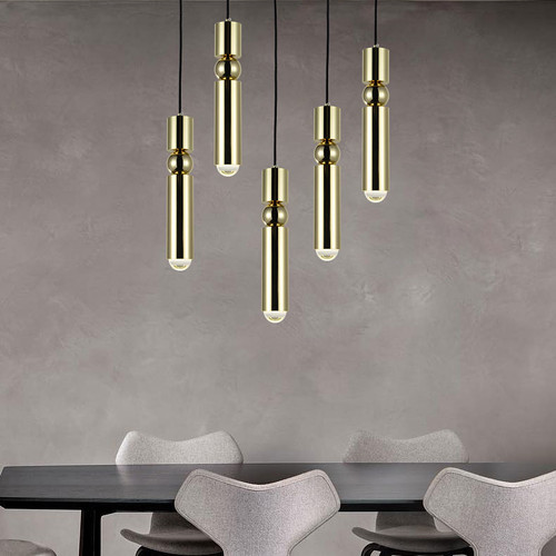 Modern Style LED Pendant light Aluminum Pipe G9 Dining Room Bedroom from Singapore best online lighting shop horizon lights