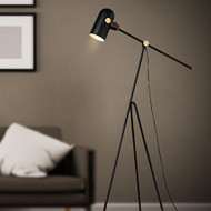 Modern Style LED Floor Lamp Carronade Low Shape Metal Shade Living Room Bedroom from Singapore best online lighting shop horizon lights