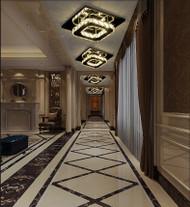European Style LED Ceiling Light Crystal  Square Metal Corridor  Hallway Decor from Singapore best online lighting shop horizon lights