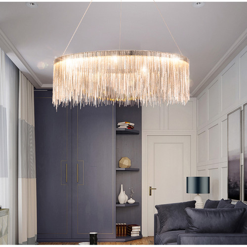Postmodern Style  LED Chandelier Light Aluminum Tassels Luxurious Home Decor from Singapore best online lighting shop horizon lights