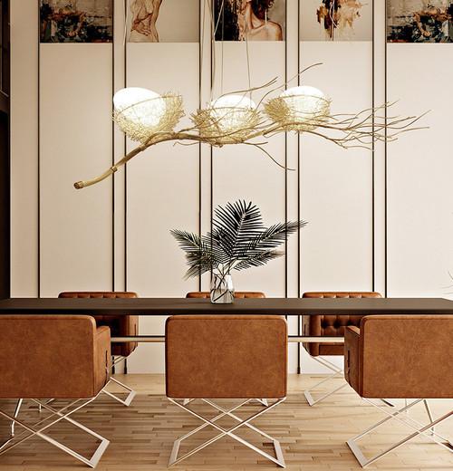LED Bird's Nest Chandelier Light Alloy Lamp body Modern Style from Singapore best online lighting shop horizon lights