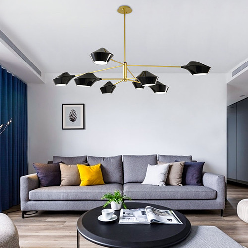 LED Chandelier Light Metal Aircraft Lampshade Nordic Modern Style from Singapore best online lighting shop horizon lights