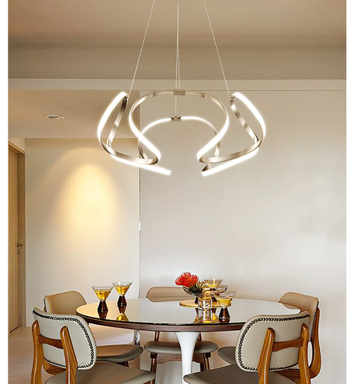 LED Chandelier Light Art Ribbons Lampshade Modern Style Free Sea shipping from Singapore best online lighting shop horizon lights