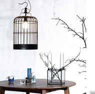 LED Birdcage Hanging Light Metal Lampshade  American Industry Vintage from Singapore best online lighting shop horizon lights