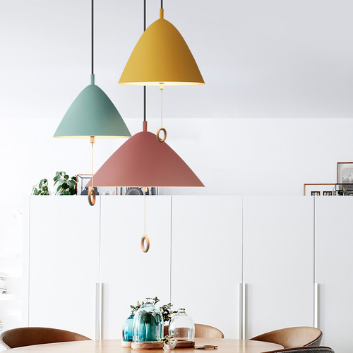 LED Hanging Lights Colorful Metal Fixtures Lampshade Modern Style from Singapore best online lighting shop horizon lights Dining Room