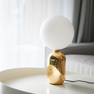 LED Glass Ball Table Lamps Gold White Black Metal Body Bedroom Bedside Nordic Modern from Singapore best online lighting shop horizon lights