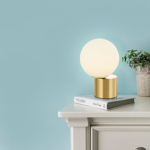 Post-modern Simple Designer Glass Ball LED G9 Table Lamp For Living Room Bedroom Study from Singapore best online lighting shop horizon lights enjoy your life