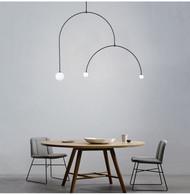 LED Pendant Light Metal Line Three G4 Bulbs Creative Light Modern Style from Singapore best online lighting shop horizon lights