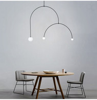 LED Pendant Light Metal Line Three G4 Bulbs Creative Light Modern Style from Singapore best online lighting shop horizon lights Dining Room