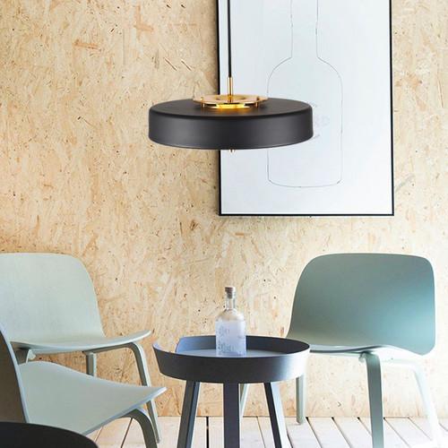 LED Hanging Light Flat Lampshade Golden Socket Modern Style from Singapore best online lighting shop horizon lights