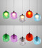 LED Hanging Light Colorful Glass Bubble Lampshade Modern Style from Singapore best online lighting shop horizon lights