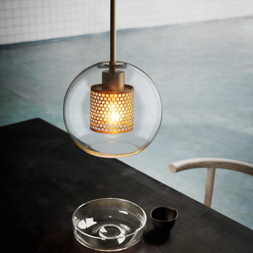 LED Glass Pendant Light Silver Copper Color Shade Modern style from Singapore best online lighting shop horizon lights