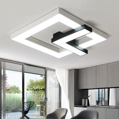 LED Ceiling Light Creative Rectangle Metal Acrylic Shade Modern Style from Singapore best online lighting shop horizon lights
