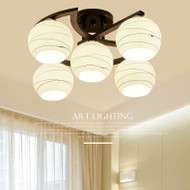 Elegant LED Ceiling Light Features Milk Glass Shades and Five Design Ball Modern Style from Singapore best online lighting shop horizon lights