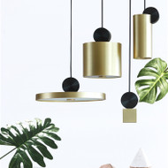 LED Gold Pendant Light Creative 4 Versions Metal Lampshade Modern Style from Singapore best online lighting shop horizon lights