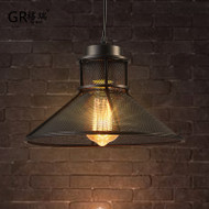 LED Pendant Light Grid Metal Lampshade Industrial retro style from Singapore best online lighting shop horizon lights