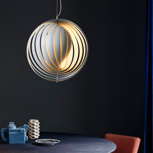 LED Globe Pendant Light Rotates Space Ball Metal Lampshade Modern Style from Singapore best online lighting shop horizon lights beautiful design